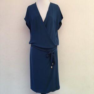 Diane von Furstenberg Blue Midi Dress Size 10